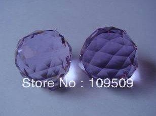 10 шт. / lot 30 мм Amthyst кристалл граненные сфера