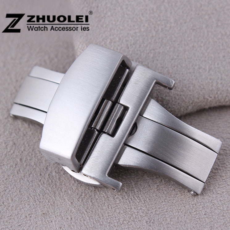20mm New High Quality Brushed Silver Stainless Steel Butterfly Depolyment Clasp Buckle For Watch Strap Band Free Shipping kitqua37798saf7751gr value kit quality park clasp envelope qua37798 and safco e z sort steel mail sorter module saf7751gr