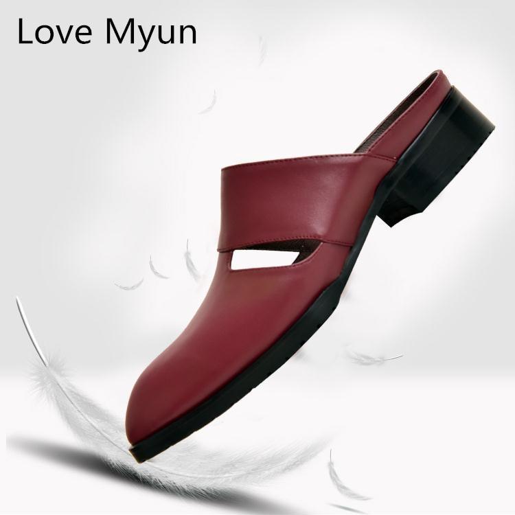 ac4db0a657 Zapatos white Dedo En Negro Hombre Blanco Fuera Alta red Hombres Moda  Zapatillas Cuero Del Verano Resbalón Para ...