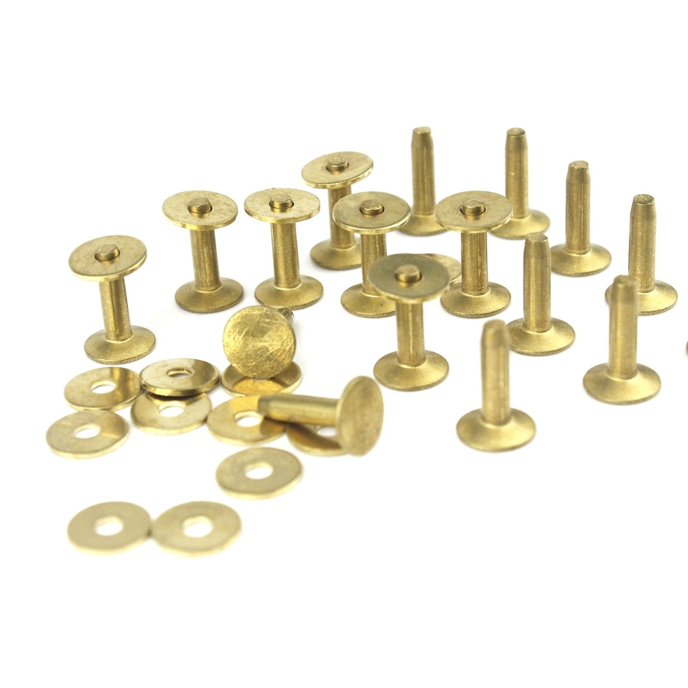 High Quality Solid Brass Rivets & Burrs 1/2