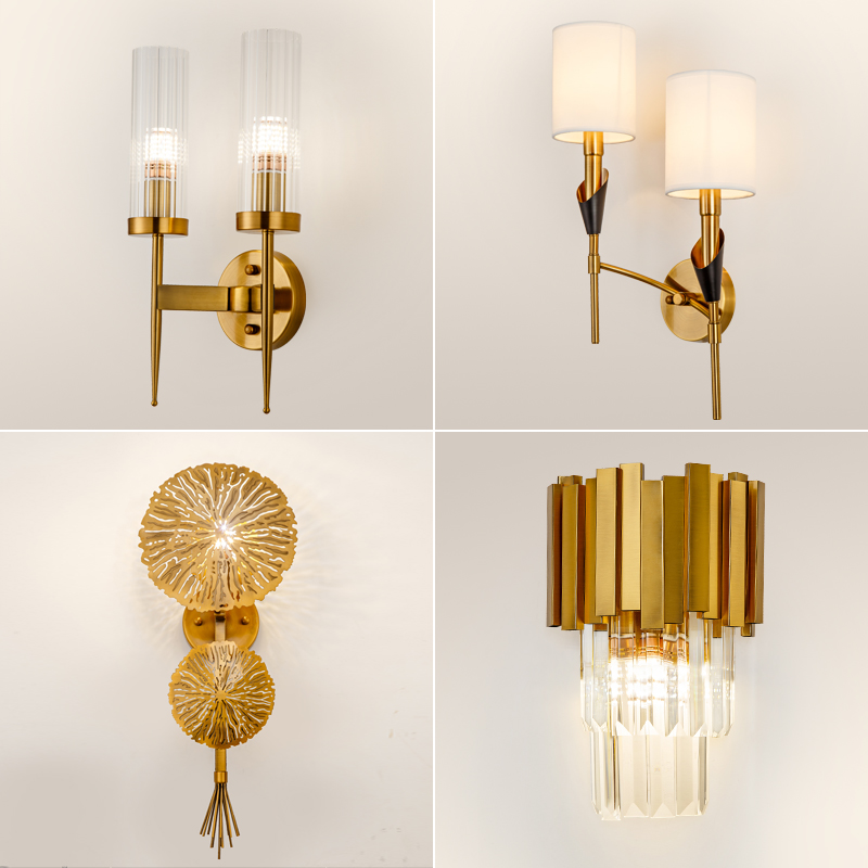 Post Modern Art Crystal Wall Lamp Living Room Aisle Hotel Club Creative led Wall Light Bedroom Study Room Luxury led Wall sconce