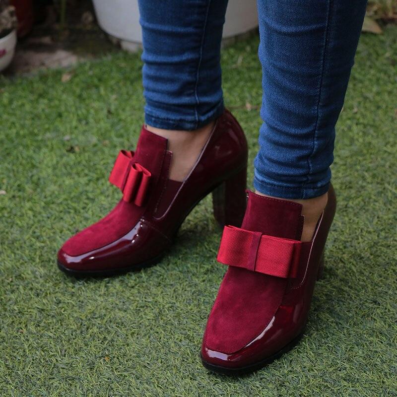 KEMEKISS أحذية عالية طبيعي 4