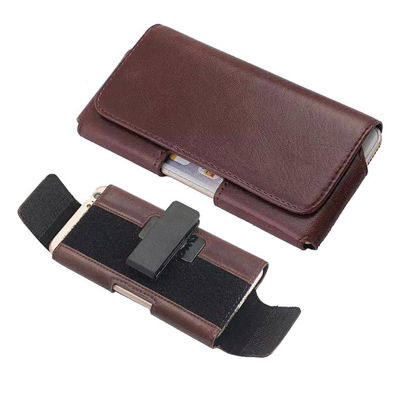 Leather Universal Pouch For Google Pixel/ Pixel XL Size Adjustable & Belt Clip Case Bag For Blackberry DTEK 50 60/NEON Holster