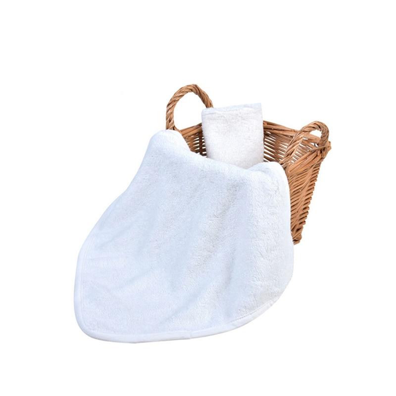 Bamboo Fiber Children Washing Baby Feeding Face Towels Infant Wipe Wash Cloth Newborns Handkerchief Bath Towel White Color