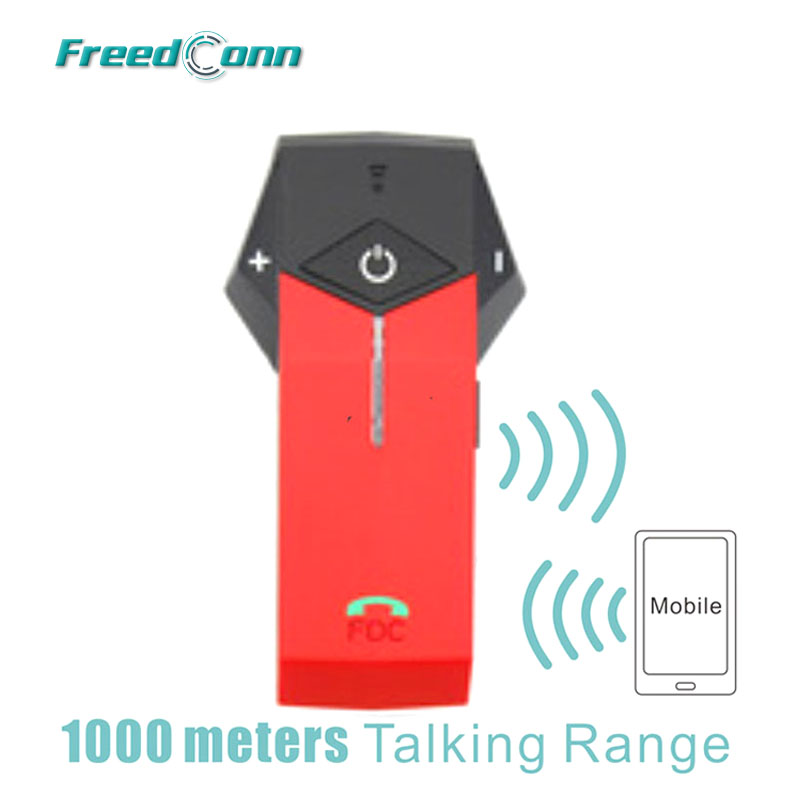 Free Shipping!!Red FreedConn 1000M COLO Motorcycle Motorbike Helmet Bluetooth Intercom Headset Support NFC Tech e 3lue ebt922 nfc bluetooth headset black