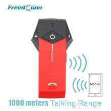 Бесплатная доставка! Красный FreedConn 1000 м Коло мотоцикл шлем Bluetooth гарнитура Поддержка NFC Tech