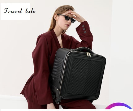 Travel Tale 16/20/24 Inch The Most Fashionable, High Quality PU Rolling Luggage Spinner Brand Travel Suitcase
