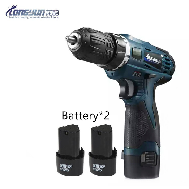 12V Mini Screwdriver extra Lithium Battery Two Speed cordless drill Wireless Electric Drill bit Electric Screwdriver
