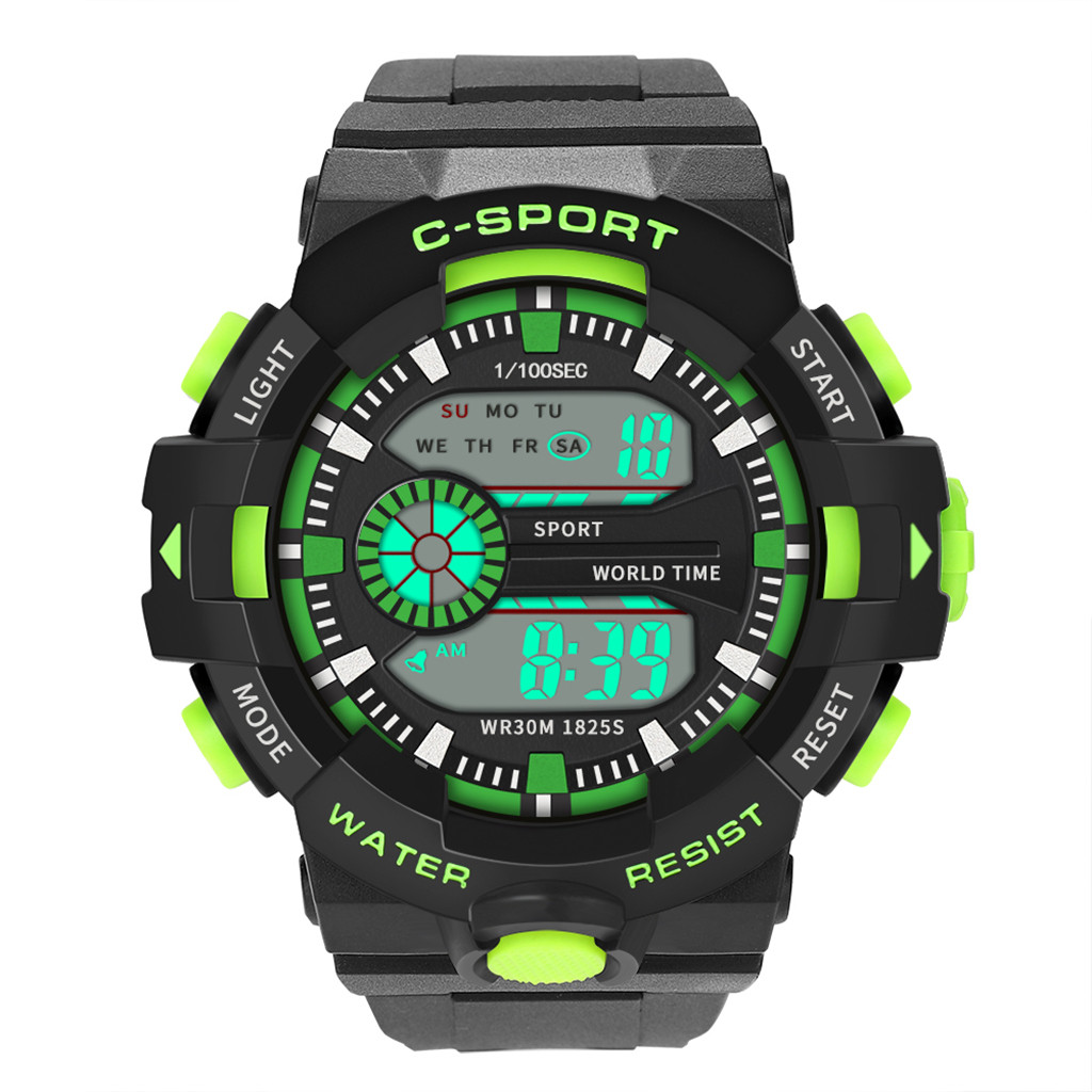 Wrist-Watch Electronic Digital Military-Sport Waterproof Men Luxury New Analog LED Elegant