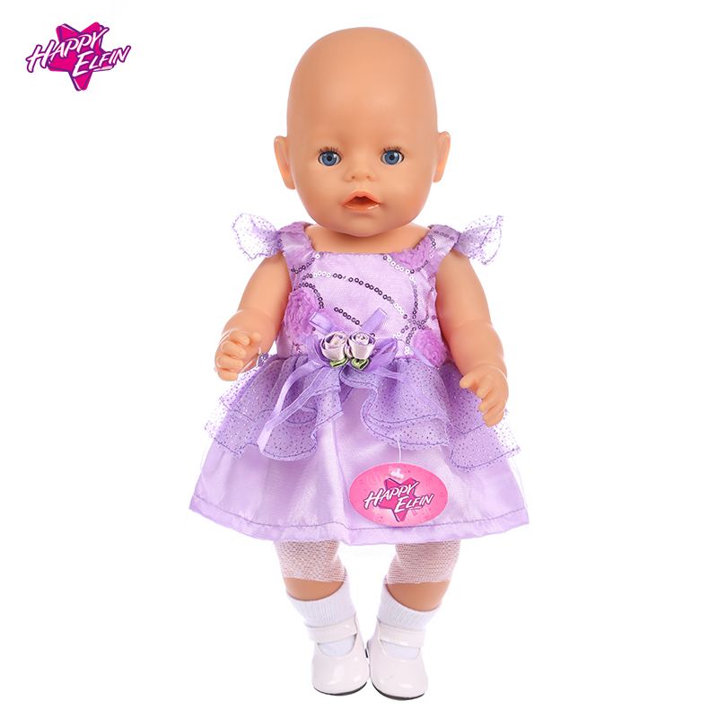 High Quality Princess Dress Doll Clothes fit 43cm Baby Born Zapf 18in American Girl Doll Clothes and Accessories Kids Gift zapf baby born doll clothes 15 styles bowknot princess skirt dress fit 43cm zapf baby born doll accessories girl gift x 171