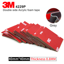 Gray 3M original 4229P thickness 0.8mm Auto double sided adhesive acrylic foam tape,10Pcs/Lot,Size 40mm*40mm