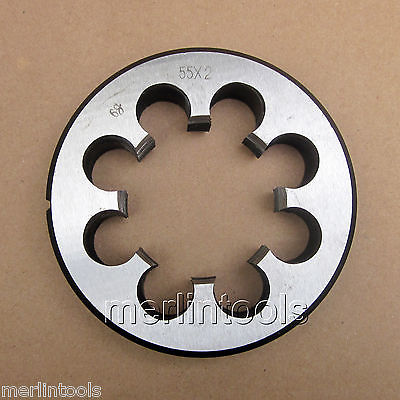 55mm x 2 Metric Right hand Thread Die M55 x 2.0mm Pitch 52mm x 2 metric right hand thread die m52 x 2 0mm pitch