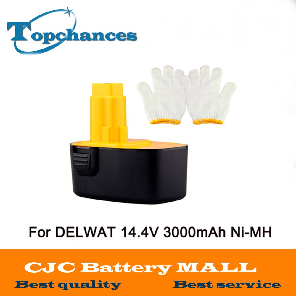 Brand New 14.4V 3000mAh Rechargeable Battery Pack Replacement Power Tools Battery Cordless Drill for Dewalt DE9092 DE9094 Ni-MH 24v 3000mah 3 0ah rechargeable battery pack power tools batteries cordless drill ni mh battery for makita bh2430 bh2433