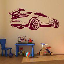 Free shiping Racing Car Vehicle Transfer Interior Vinyl Decal Art Mural Big Car decor sticker Wall Sticker Home Decoration все цены