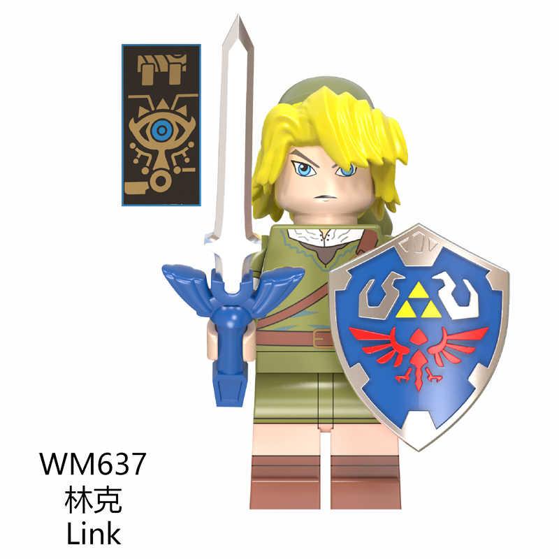 אסטרטגיה משחק נסיכת זלדה קישור אבני בניין Ninjago פעולה fiugre diy לבני מודל בובות צעצועים לילדים צעצועי WM6053