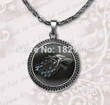 2017 Time-limited Hot Sale Vintage Collares Maxi Necklaces Collier Game Of Thrones Pendant House Necklace Jewelry Glass DomeHZ1