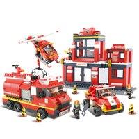 Sluban Model Toy Compatible With Lego B0226 693pcs Fire Emergency Sets Model Building Kits Toys Hobbies