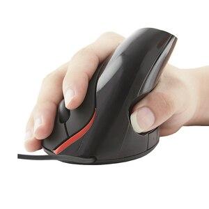 Image 2 - リテールパッケージ人間工学垂直マウス有線コンピュータ 1600 Dpi 光学健康的なオフィスモウズ用マウスパッド Pc のラップトップ