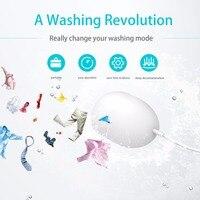 Universal portátil mini dispositivo de lavanderia doméstico máquina de lavar ultrassônica economia de tempo limpeza profunda para o dispositivo de viagem|Peças para máquina de lavar| |  -