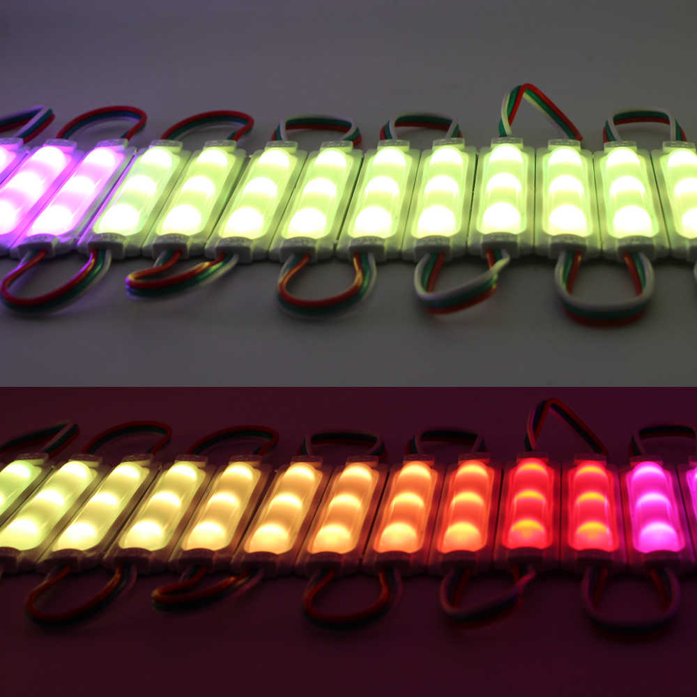 WS2811 2811 IC светодиодная RGB Гирлянда модульная светящаяся гирлянда 3 светодиодный SMD5050 RGB Водонепроницаемый светодиодный садовый светильник RGB рекламные Лайт-20 штук