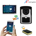 "Electronic wifi doorell video peephole 1/4"" CMOS 100W Pixel door camera night vision with 7"" inch android tablet PC"