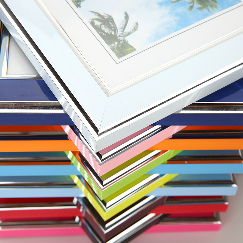 7inch Frame Acrylic Plexiglass Wood Card Backplane Stand Table Display Photo Quadro Decoration TV Wall Photo Frame New Arrival