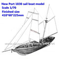 Free shipping US Classic Baltiomore Schooner wooden model Scale 1/70 New Port 1830 sail boat wooden Model Christmas gift