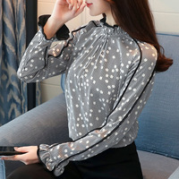 New Women Blouses Long Sleeve Chemisier Femme Blusas 2018 Spring Summer Office Lady Chiffon Shirts Formal