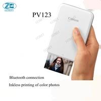 PV123 мобильный телефон фото цветной принтер маленький мини Bluetooth ручной печати Карманный Polaroid портативный фото пленка inkless PV-123