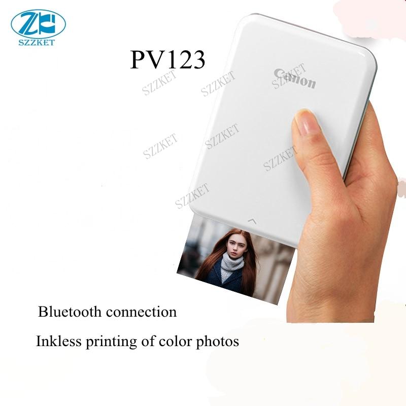 PV123 téléphone portable photo imprimante couleur petit mini Bluetooth poche d'impression poche Polaroid portable photo film sans encre PV-123