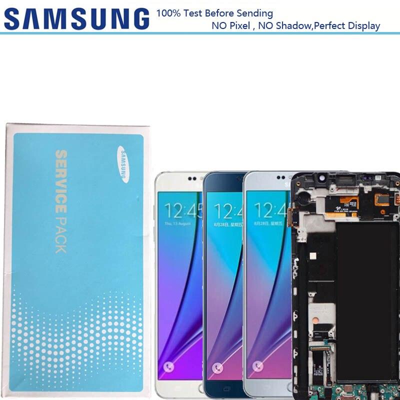 2560 1440 5 7 Display For Samsung Galaxy Note 5 N9200 N920F N920A N920T N920C N920V