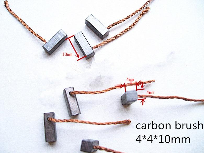 Carbon Brush   4*4*10mm   For Motors Brush     /graphite Brush Carbon Brushes Electric Motors ,FREE SHIPPING  5pairs