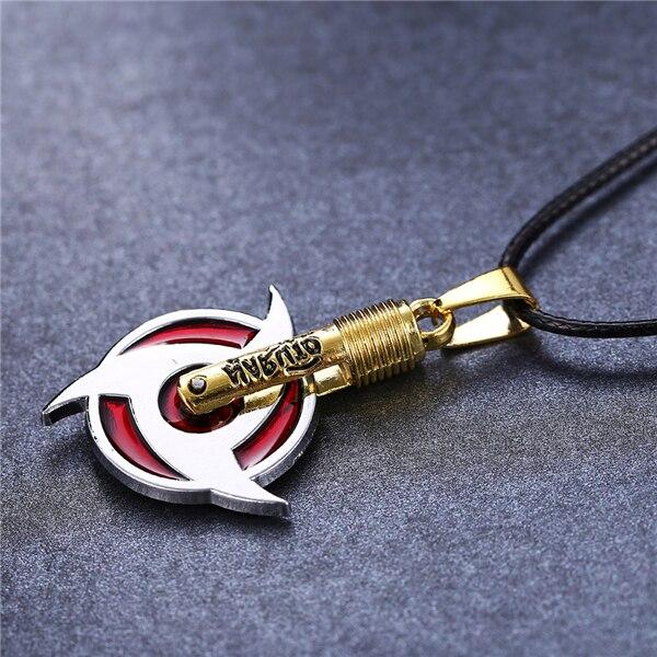 Naruto collier Uchiha Itachi Mangekyou Sharingan pendentif