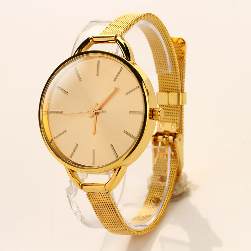Girls Women Ladies Analog Stainless Quartz Bracelet Wristwatch Watch siliver Golden watch Women Quartz Watch Stainless Steel