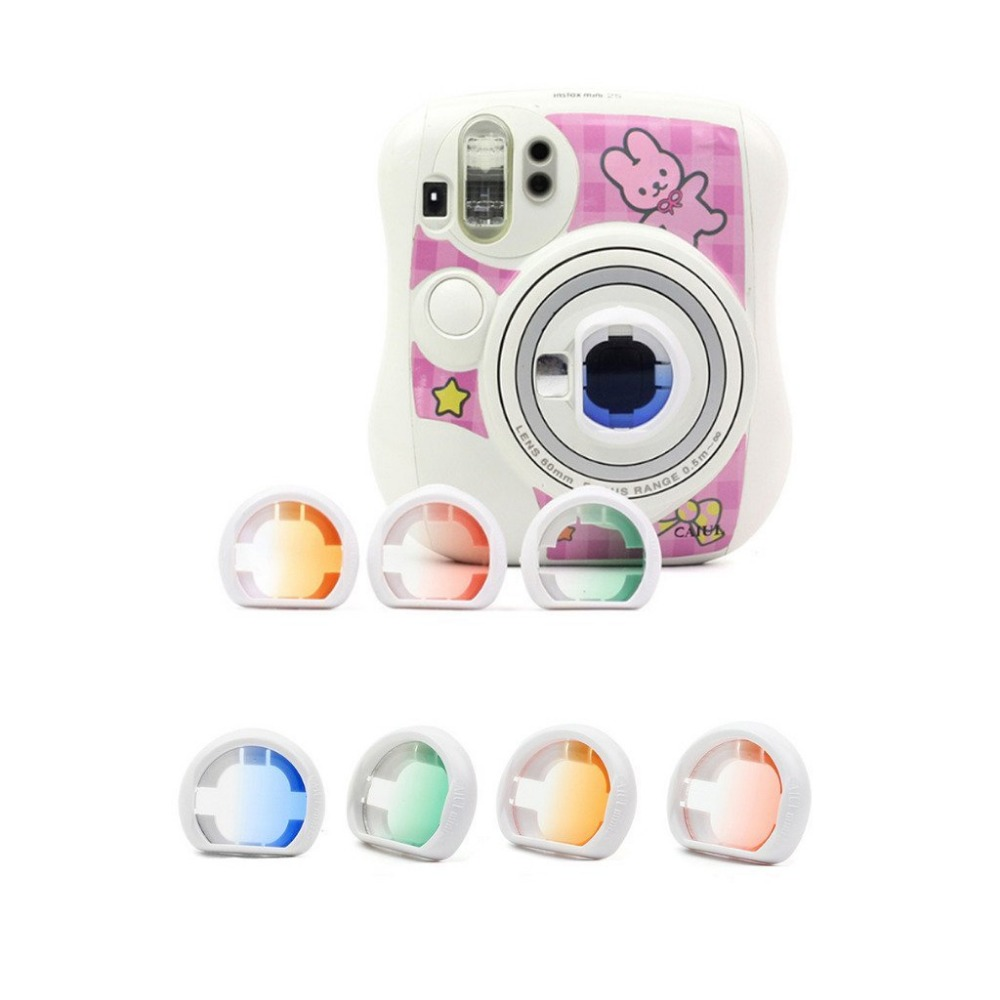 Image 2 - 4pcs/Set Gradient Color Fujifilm Instax Mini 25 Instant Camera Colorful Filters Magic Close Up Lens Camera-in Camera Filters from Consumer Electronics