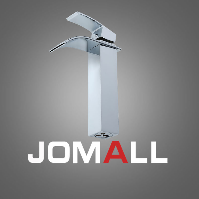 High Quality Hot Sale Waterfall Bathroom Faucet Deck Mounted Chrome Brass Vanity Sink Mixer Tap in Basin Faucets from Home Improvement