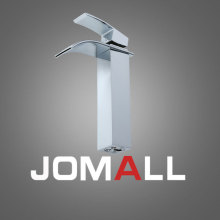 High Quality Hot Sale Waterfall Bathroom Faucet Deck Mounted Chrome Brass Vanity Sink Mixer Tap  chrome brass roman waterfall bathroom tub faucet w hand sprayer deck mounted sink faucet