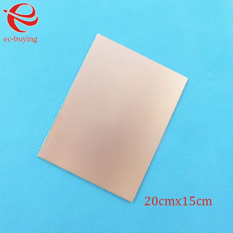 Image 4 - 10pcs/lot Copper Clad Laminate One Single Side Plate CCL 20x15cm 1.5mm FR 4 Universal Board Practice PCB DIY Kit 200*150*1.5mmSingle-Sided PCB   -