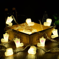 1X Christmas Shoes Boots Shaped Led String Lights 1Meters 10led For Table Bedside Garden Christmas Tree