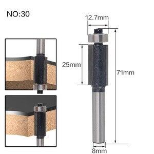 Image 3 - 1 ชิ้น 8 มิลลิเมตร Shank wood router bit Straight end mill trimmer ทำความสะอาด flush trim มุมรอบ cove กล่อง bits เครื่องมือตัด RCT