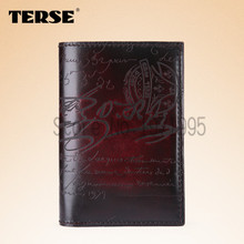 TERSE_Genuine Leather Wallets luxury style high quality men purse Italian design factory to customer handmade custom men wallet