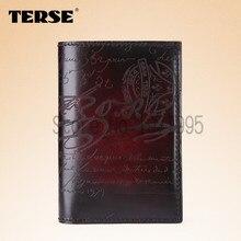 TERSE_Genuine Leather Wallets luxury style high quality men purse Italian design factory to customer handmade custom men wallet