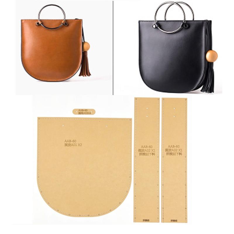 1set DIY Leather Handmade Craft Women Wallet Purse Sewing Pattern Hard Kraft Paper Stencil Template 220x120x25mm