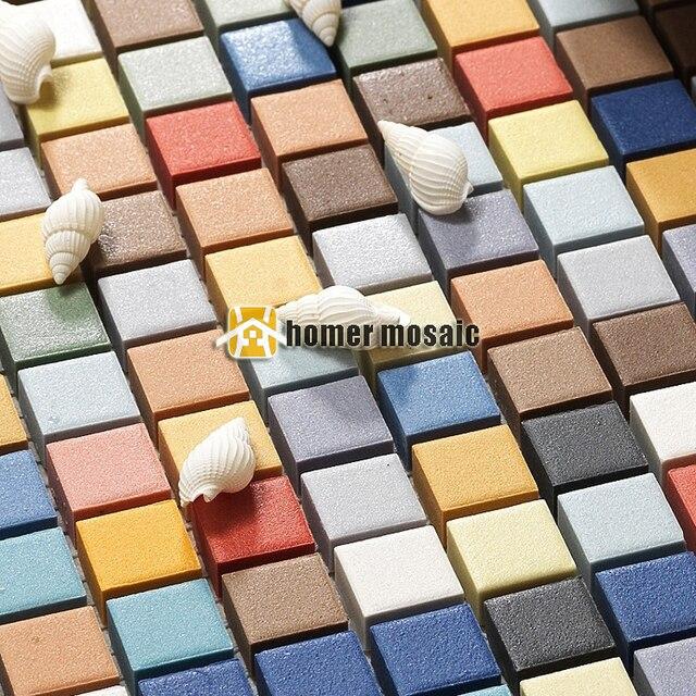 Arcobaleno colorato piazza ceramc mosaico per il bagno doccia ...