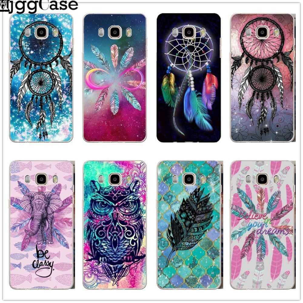 colorful dream catcher Feather owl Case For Samsung Galaxy S6 S7 Edge S8 S9 J3 J4 J5 J6 J7 A3 A5 A6 A7 2016 2017 A8 plus 2018