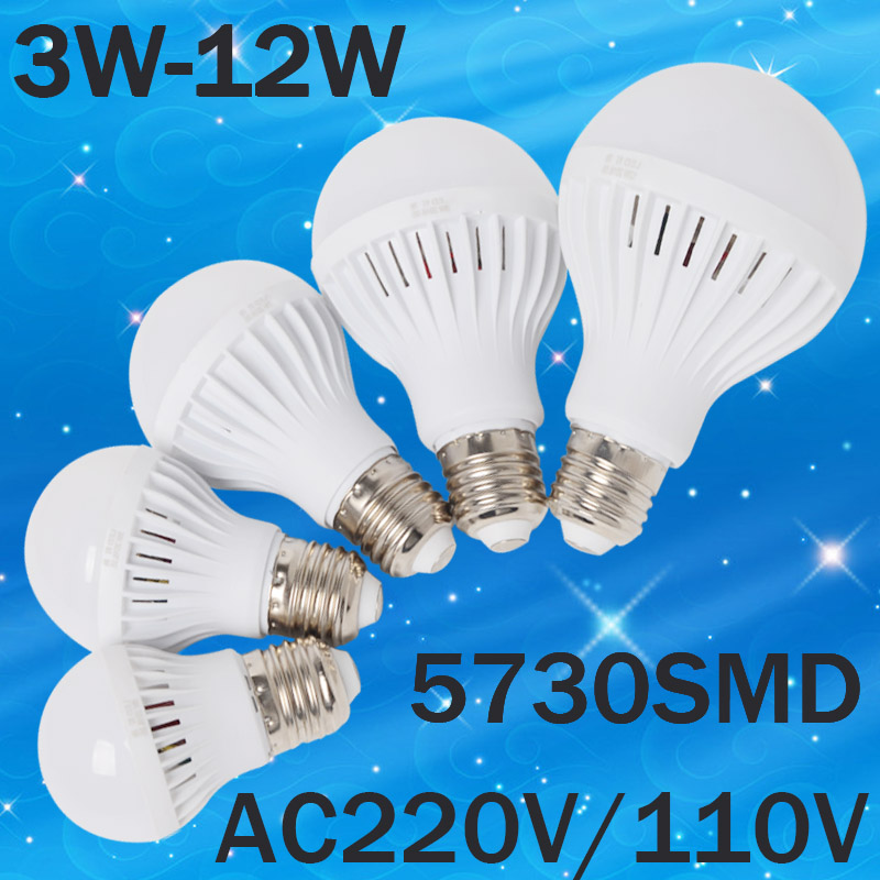 B22 LED Lamp E27 220V 110V Light 3W 5W 7W 9W 12W 15W 20W SMD 5730