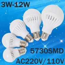 LED Lamp E27 220V 110V Light 3W 5W 7W 9W 12W 15W 20W SMD 5730 Focos Luz ampoule lampadas de Bombillas Bulb Spotlight