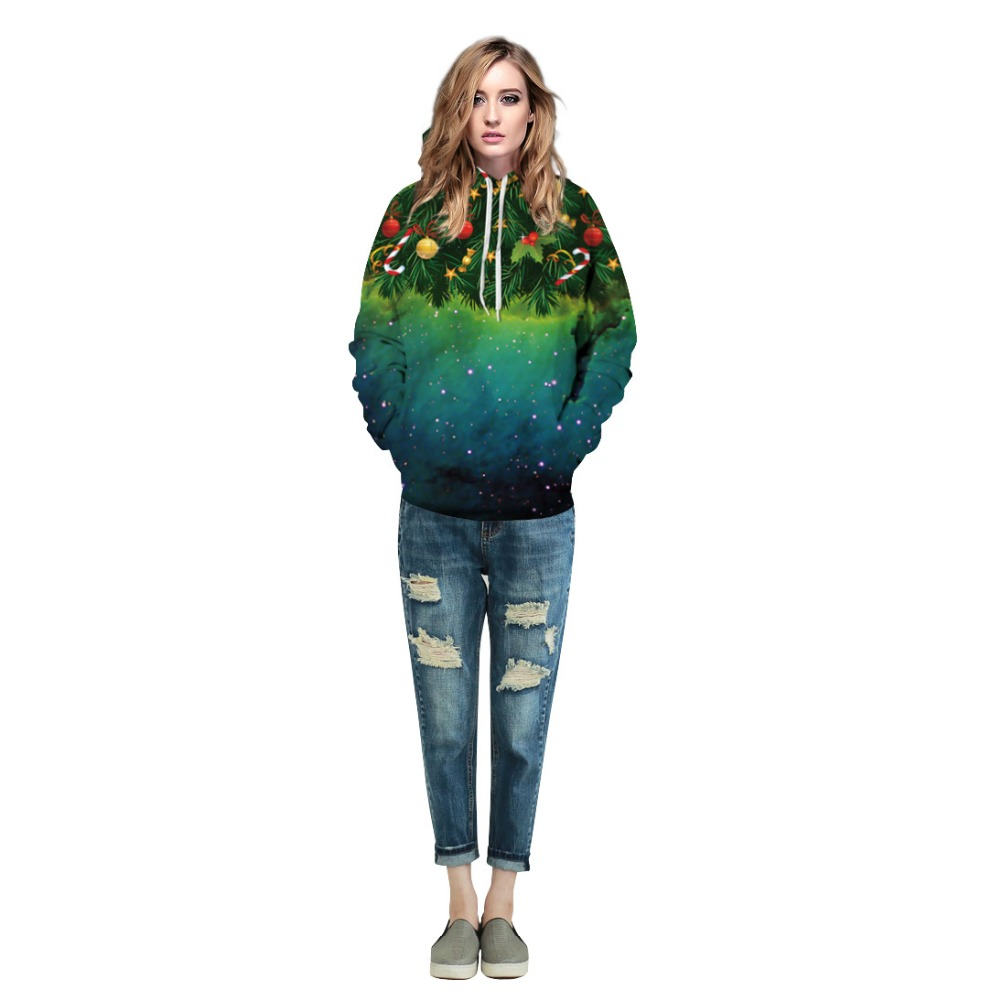 c06540a3 Christmas Tree Sweatshirt Hoodies 3D Print Hip Hop Coats Casual Sweat Shirt  Men Women Hooded Tops Drop shipping-in Hoodies & Sweatshirts from Men's  Clothing ...
