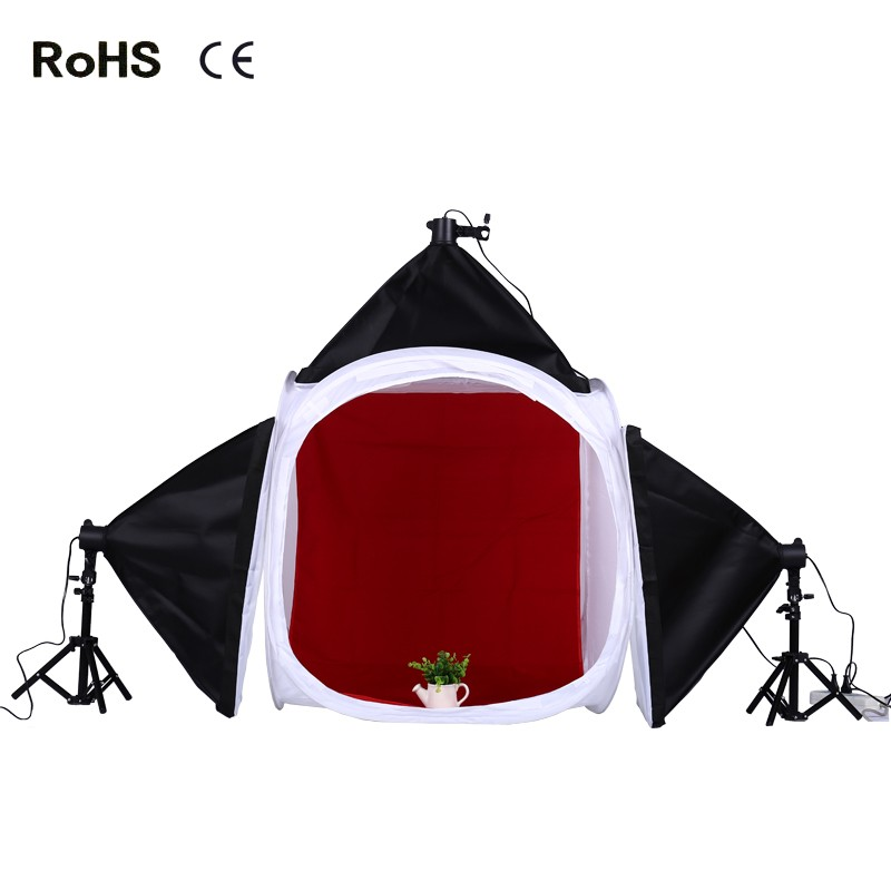 Photography Studio Set:80cm Photo Studio Shooting Tent Light Cube Diffusion Soft Box Kit(4 backdrops)&Soft Box 32x32 inch 80cm x80 cm photo studio shooting tent light cube diffusion soft box kit with 4 colors backdrops for photography