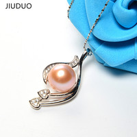 Pearl Jewelrys Mother S Gift Charm Sterling Silver Jewelry Pendants Shell Purple Women S Necklace Women